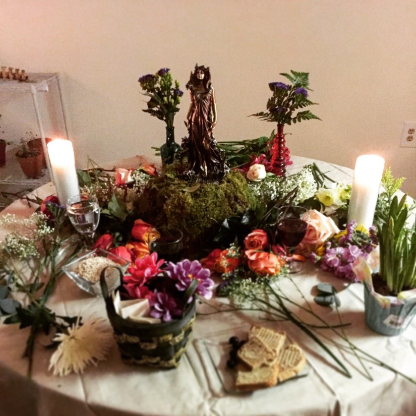 Spring Equinox Persephone Altar