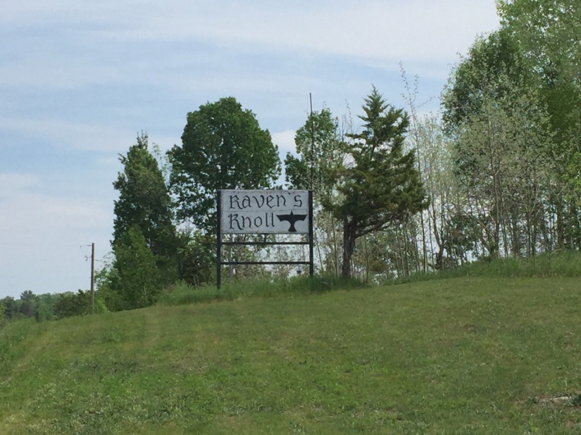 The Sign at Raven's Knoll Ontario Canada